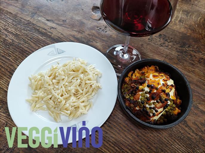 Gebakken Ricotta met Griekse pasta